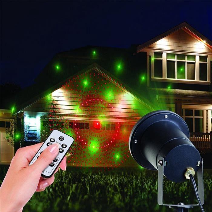 Rouge et vert 8 grand mod le lumi re de no l projecteur lumi res laser star show pour le jardin for Projecteur laser lumiere noel