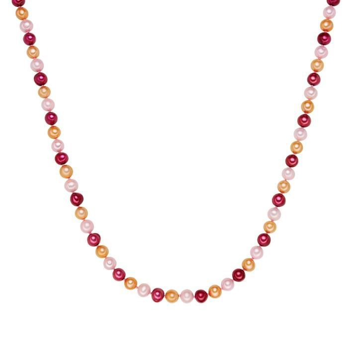 Valero Pearls - Créoles avec fermetures à charnière - Argent sterling 925 (dorées rose) - Bijoux de perles
