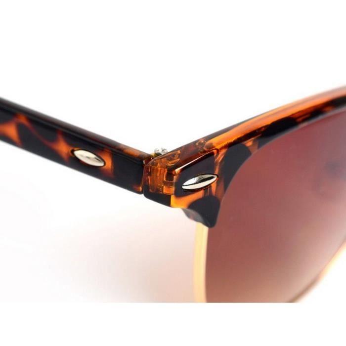 Lunettes de soleil dété Retro Half Frame Shades Style Classique