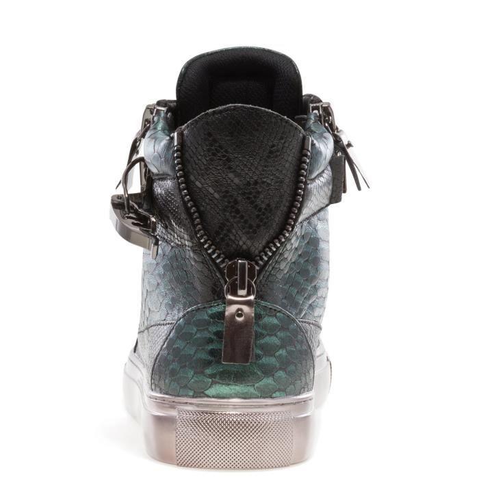 J75 bout rond hommes Zeus en cuir à lacets haut-top Sneaker Z02TG Taille-47
