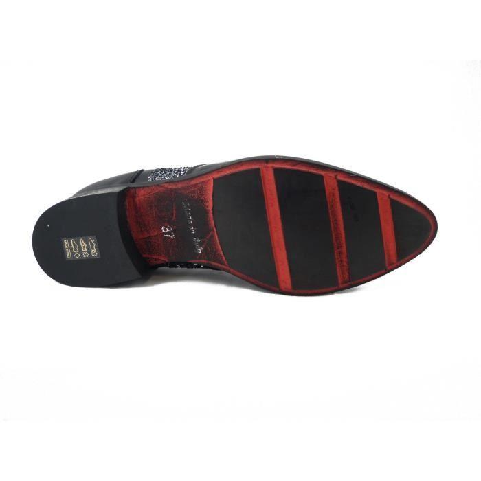 Femme chaussures en cuir couleur noiret semelle en caoutchouc antidérapants-4946 XXy08lfLC