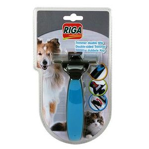 RIGA Trimmer double t?te Brosse - chien & chat - Assortis 3 couleurs