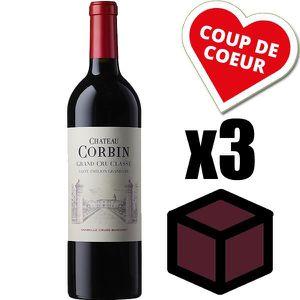 VIN ROUGE X3 Château Corbin 2014 Rouge 75 cl AOC Saint-Émili