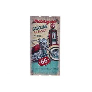 TABLEAU - TOILE Cadre bois Moto - vintage - USA - 60 x 30 cm A