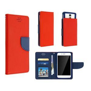 HOUSSE - ÉTUI Etui Sony Xperia T3  rouge/bleu adaptable