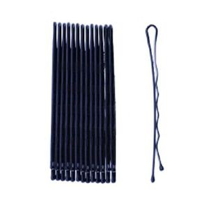 BARRETTE - CHOUCHOU Pince plate noire pour cheveux femme