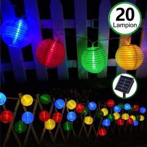 GUIRLANDE D'EXTÉRIEUR Lampe Lanterne LED Solaire,20LED IP65 Étanche Guir