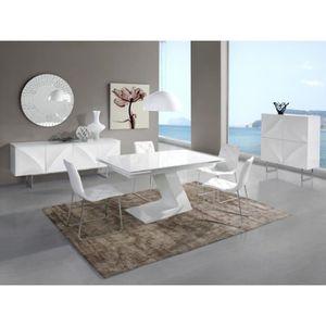 table manger seule table apus extensible en bois laqu blanc longueur