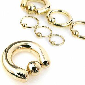 ANNEAU DE PIERCING Piercing anneau boule Plaqué Or (0.8 mm - 10 mm)