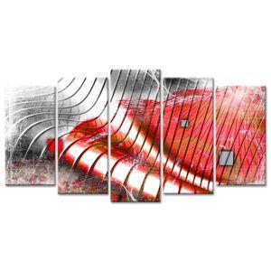 TABLEAU - TOILE Tableau Déco Design Vagues Modernes - 150x80 cm