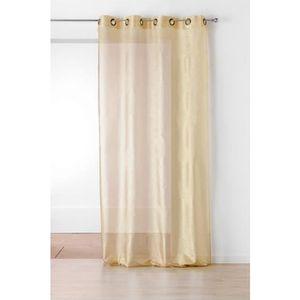 Rideau voilage dore achat vente rideau voilage dore for Salon 3m de large