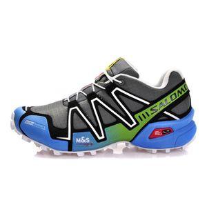 chaussures de sport 4ccd3 a1682 Salomon Speedcross 3 CS Chaussure de Trail Gris et Blanc TU ...