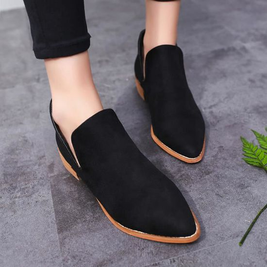 Chaussures Bottes Solide Bottines Boucle Noir Chaudes Martin Dames Faux Femmes I8Pwq77