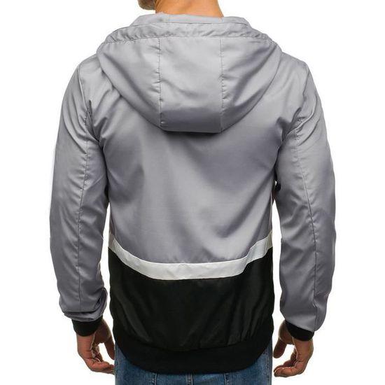 De Manteau Sweats Longues Manches Casual Fit Hommes Capuche Hiver Poche Veste Wei2169 Slim À Automne Zip H4q7fOwxa1