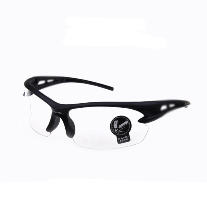 Lunettes de soleil mixte homme et femme Type de sport sunglasses Anti-Collision Noir