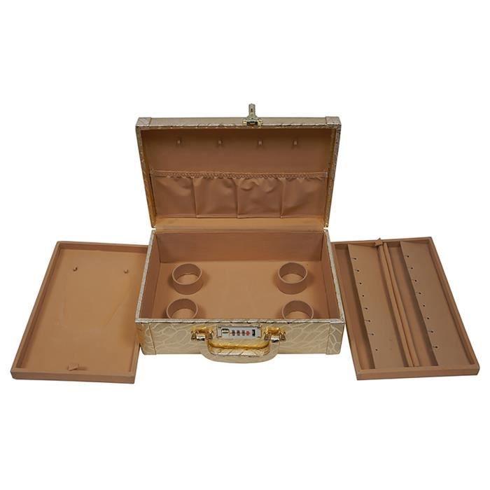 Mode Atelier boîte à bijoux de mariée de femmes (30 cm X 17 cm X 9 cm, or) U0PM8