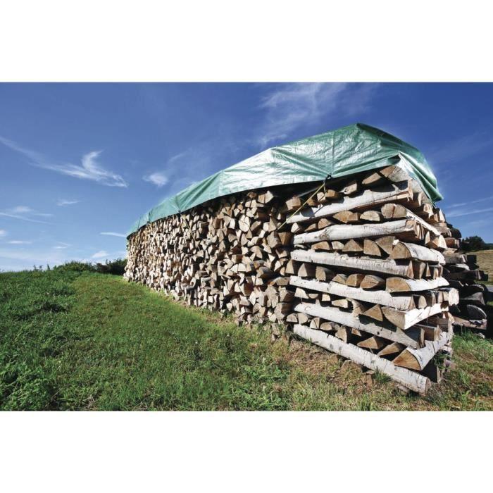 Bache pour couvrir le bois de chauffage 2x8 metres achat for Bois de chauffage 66