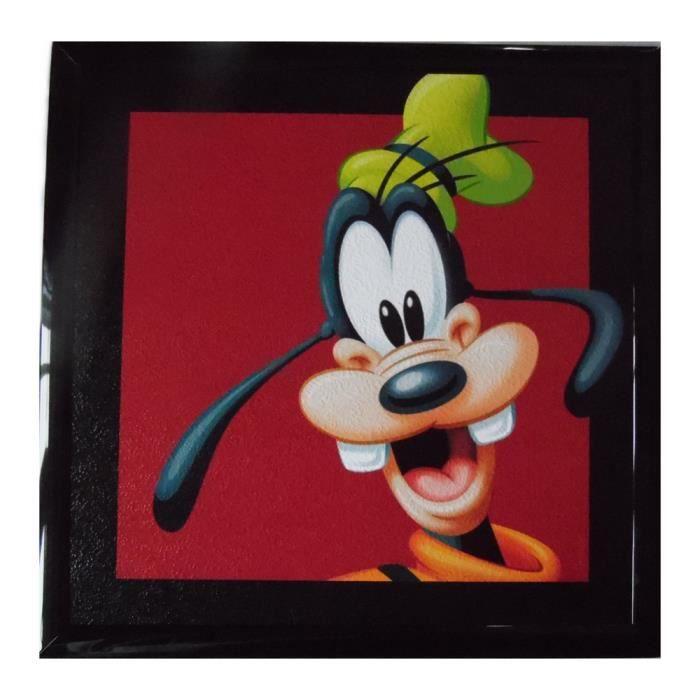 Tableau Dingo Disney Mickey cadre 23 x 23 cm Achat Vente tableau