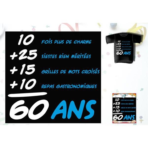 t shirt anniversaire addiction 60 ans homme achat vente b ton p e baguette t shirt. Black Bedroom Furniture Sets. Home Design Ideas