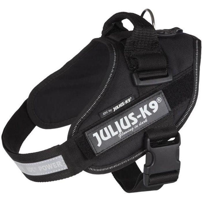 0ee3e56aaa JULIUS-K9 Harnais Power IDC - 0 - M-L : 58-76 cm-40 mm - Noir - Pour chien