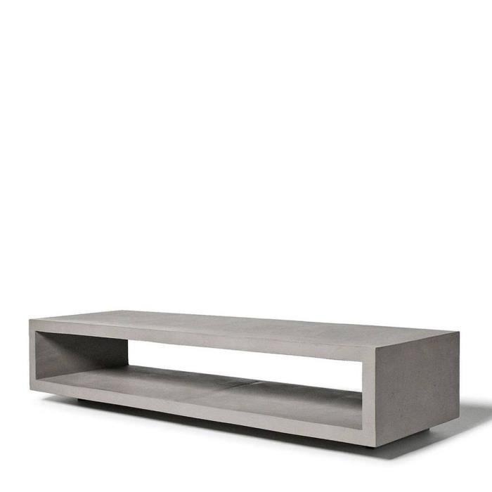 meuble tv b ton monobloc couleur gris b ton achat vente meuble tv meuble tv b ton monobloc. Black Bedroom Furniture Sets. Home Design Ideas