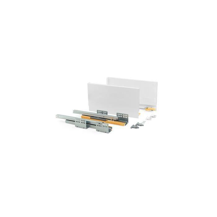 Kit de tiroir Concept hauteur 185 mm et profondeur 350 mm finition blanc - 3101412 - Emuca