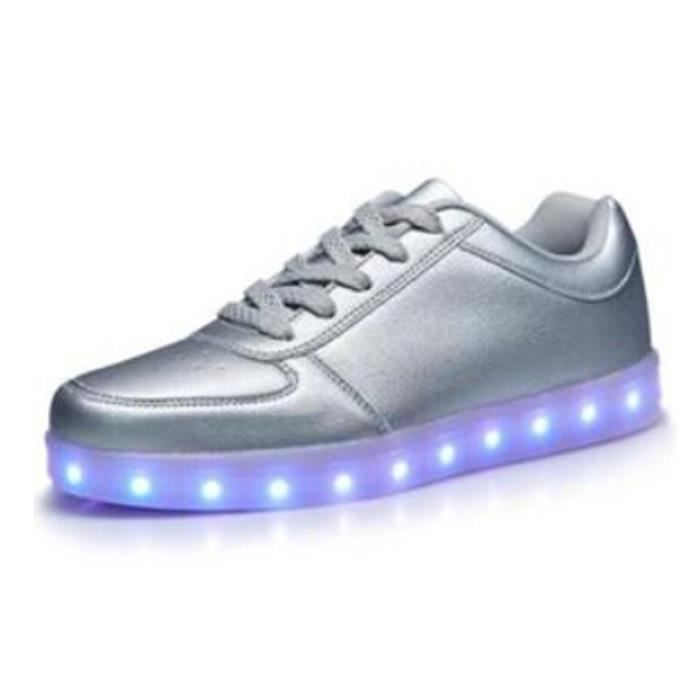 émettant Chaussures Colorful USB chaussures charge flashfluorescentes Chaussures LED Glow pour hommes et homme