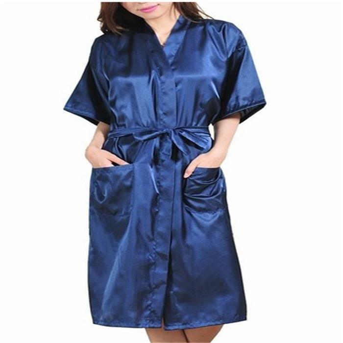 1120b311a2 Robe de Chambre kimono Satin Peignoir Femme