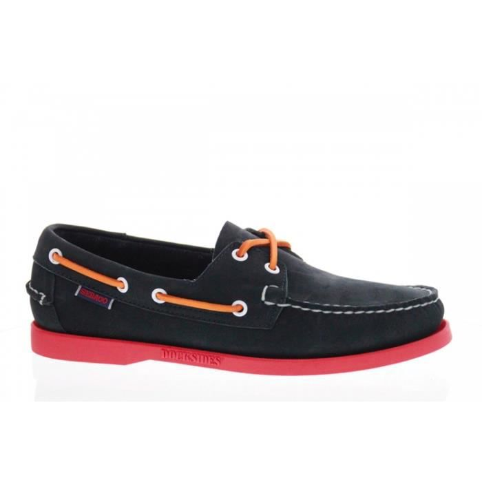 Sebago Docksides velours Homme Navy Navy - Chaussures Chaussures bateau Homme