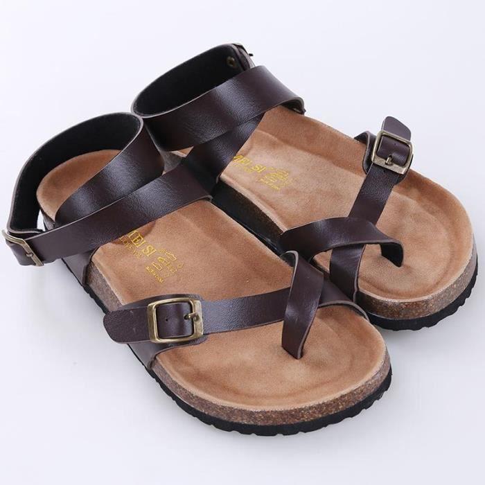 3cd47f1258d SANDALE - NU-PIEDS Sandales Homme   Femme Plates de Palge Grande Tail