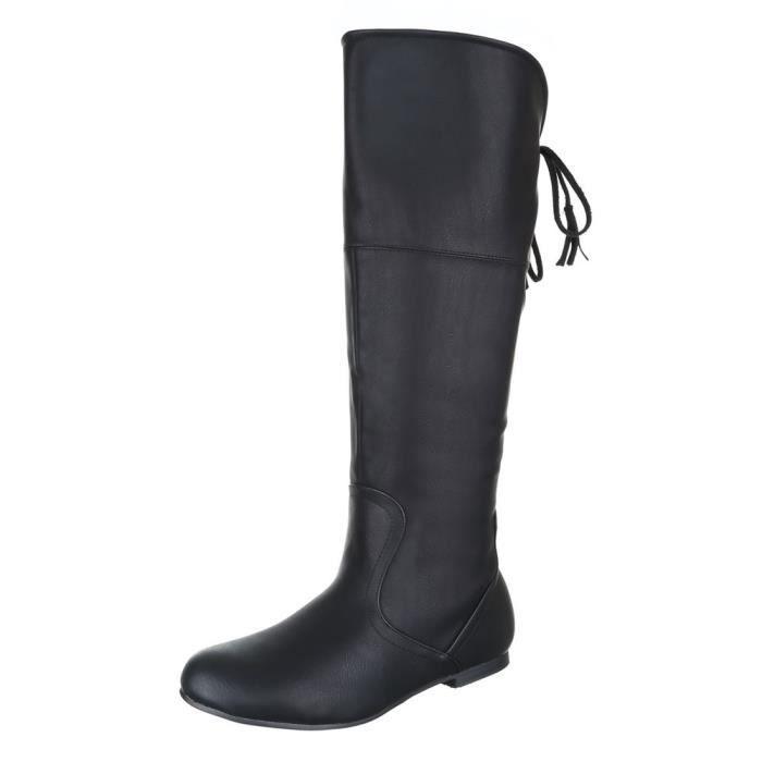 femme botte chaussure Optik d'occasion noir