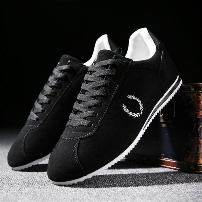 Sneakers Hommes Haut Qualité Nouvelle tendance Beau Chaussures Couleur Unie LéGer Chaussures Haut qualité Loisirs Classique 39-44 Zg2pWreP