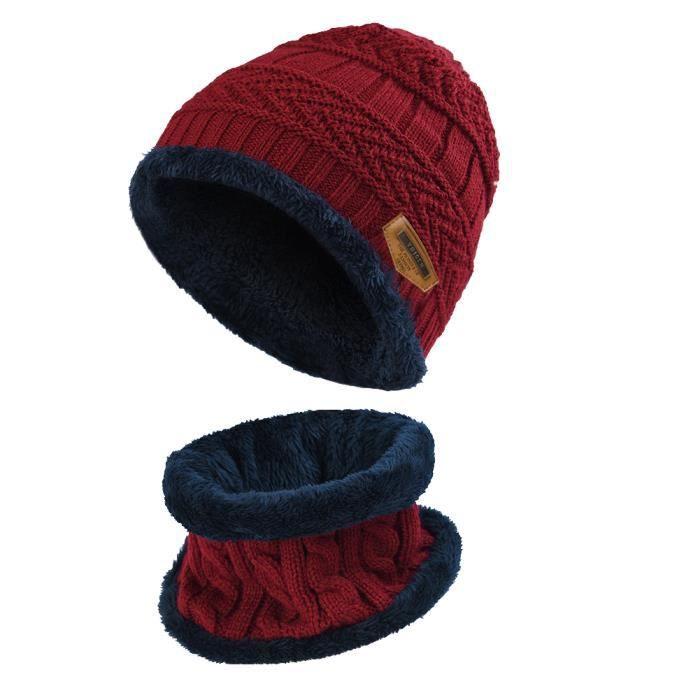 BONNET - CAGOULE Bonnet chaud et écharpe circulaire pour enfants, r