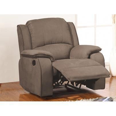 Fauteuil relax en microfibre HERNANI Achat Vente fauteuil Marron