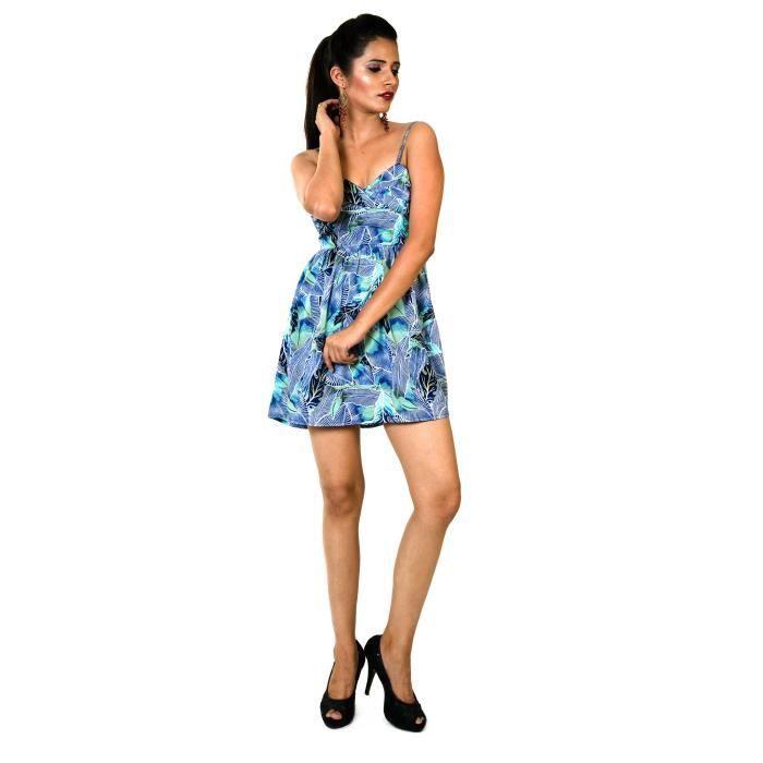 Floral Print Femmes Robe à bretelles 1D7Z4W Taille-38