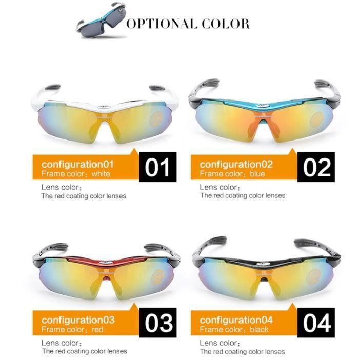 Lunettes de sport Lunettes de cheval en plein air myopie haute définition lunettes de soleil lunettes anti-u bleuHZDYJ01
