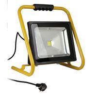 LAMPE DE CHANTIER Projecteur de chantier LED 50W portable NFavec câb