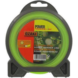 JARDIN PRATIQUE Fil nylon rond premium line OZAKI pour débroussailleuse - ? 1,6 mm - L 15 m