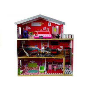 MAISON POUPÉE Maison de poupée en bois rouge