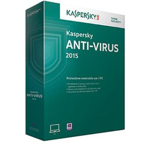 ANTIVIRUS Kaspersky Lab Anti-Virus 2015, 1u, 1Y, RNW, ITA, 1
