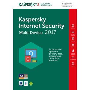 BUREAUTIQUE À TÉLÉCHARGER Kaspersky Internet Security 2017 2 Postes / 1 An /