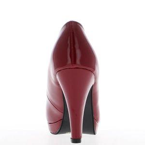 ESCARPIN Escarpins rouges à talon de 9cm ...