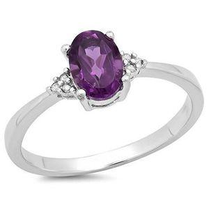 BAGUE - ANNEAU Bague Femme Diamants 0.88 ct  Argent Fin 925-1000