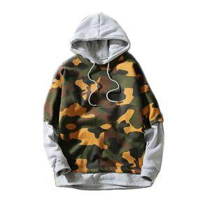 Sweatshirt à capuche Sweat Homme 2 en 1 Stylé Militaire de