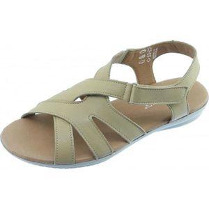 confort scratch sensible et souple Aérobics pied cuir légère SIRACUSA beige pour chaussures Nu Femme pied marque Sandale xqC5IRF