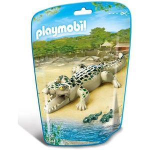 UNIVERS MINIATURE PLAYMOBIL 6644 - Le Zoo - Alligator avec Bébés