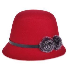 CHAPEAU - BOB Mode Femmes Vintage Style Cloche Cap Faux Fourrure ... 4f1c7065b79