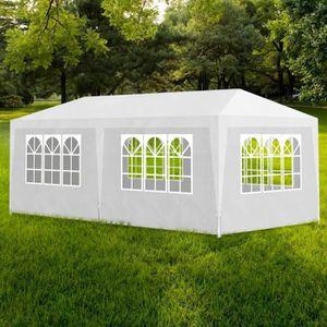 TONNELLE - BARNUM Tonnelle Pavillon de jardin blanc 3x6m