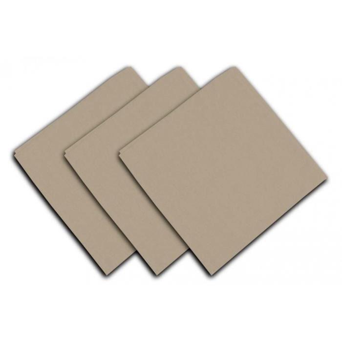 SOLEIL D'OCRE Lot de 3 serviettes de table Panama - 45x45 cm - Beige écru
