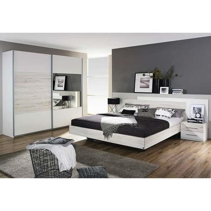 Chambre coucher adulte garde robe dressing lit et chevet for Chambre complete adulte cdiscount